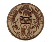 In Odin We Trust Viking God Wolf In God Till Valhall IRON-ON patch DSRTAN