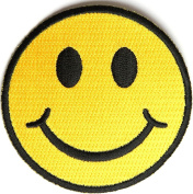 Yellow Smiley Face Patch (7.6cm X 7.6cm ) with FREE FREIGHT from San Diego Leather