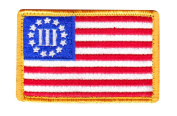 Three Percenter 3% USA Flag Morale Hook Patch