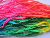YYCRAFT Pack Of 10Y neon changing Tiny Pom Pom Trim (pom size 5mm), Mini Pom Pom Trim-Colourful