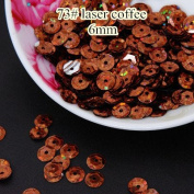 BarFeer Laser Bright 50G 6Mm Cup Round Sequins Laser Sequins Paillettes Sewing Sequins Decoration 73# Laser Coffee