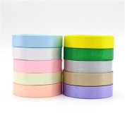 50y/lot,5y/colour Polyester Solid Colour Satin Ribbon