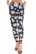 Womens Floral Print Cuffed Buttom Pockets Harem Trouser Ladie Fancy Casual Pants