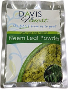 Davis Finest Premium Neem Leaf Powder - 100% Pure and Natural - Dry Flaky Itchy Skin and Scalp Relief Treatment - Antibacterial Face Hair Body Masks and Packs Effective against Acne Eczema and other Problem Skin Infections - Keeps Skin Healthy and Hair ..
