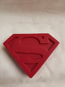 Superman logo shaped MIDI soaps x1 SLS and fragrance free approx H 10 x W 8 x D 2.5 CM