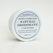 Happy Underarms Natural Deodorant Cream 75ml by Chambers & Co Aluminium free, paraben free, artificial fragrance free moisturising and healing