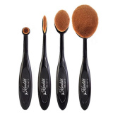 Kanddit 4Pcs/Set Professional Oval Toothbrush Shape Eyebrow Makeup Foundation Brush Powder Brush Kits