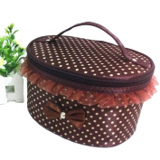 Imixlot Women Cute Lovely Colourful Dot Multifunction Portable Travel Toiletry Makeup Bag Cosmetic Makeup Pouch
