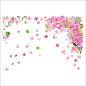Raylinedo® Flower Vine Removable Wall Stickers Window Sticker Art Decals Mural DIY Wallpaper for Room Decal 70*100CM