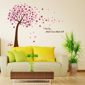Raylinedo® Cherry Blossoms Tree Removable Wall Stickers Window Sticker Art Decals Mural DIY Wallpaper for Room Decal 120*150CM