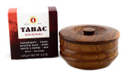 Tabac Original Shaving Bowl Soap Refill 125g with Traditional Indian Rosewood Shaving Soap Bowl by Urbane Men
