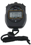 Leap Digital Professional Handheld LCD Chronograph Sports Stopwatch,One-Row 2 Memories Lap Counter Running Timer.