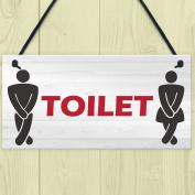 Red Ocean Retro Toilet Sign Funny Vintage Pub Bar Club Hanging Plaque Bathroom Loo Door Decor Sign