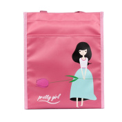 School bag / Extracurricular activities school bag/vacation bag, with 'Pretty girl' pattern, colour