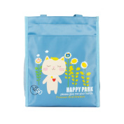 School bag / Extracurricular activities school bag/vacation bag, with 'Cat in the garden' pattern, colour