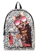 New primary and secondary school students shoulders cute dog kitten bag backpack travel bag , ch1505d4-22