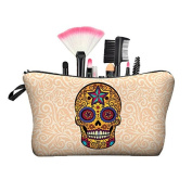 NobleQueen Skull and And Animals 3D Printing Cosmetic Bag Pencil Case