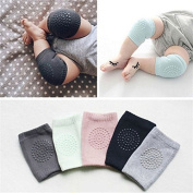Smilucky Pair of 5 Infant Toddler Baby Adjustable Elastic Knee Elbow Leg Pad Crawling Baby Knee Safety Protector