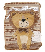 Baby Boys or Girls Unisex Gorgeous Brown Lion Soft and Cuddly Infants Wrap / Blanket