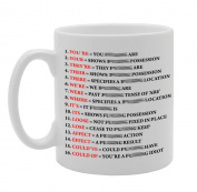 MG921 Grammar Expletive Mug Novelty Funny Gift Mug Novelty Gift Printed Tea Coffee Ceramic Mug