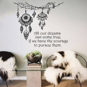Dreams Catcher Wall Decals Feather Stickers Boho Dreamcatcher Art Vinyl Decal Bedroom Nursery MC2