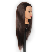 60cm Mannequin Head Hair Styling Training Head Manikin Cosmetology Doll Head Synthetic Fibre Hair SP04P