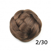 DENIYA Braided Bun Hair Extensions Costume Hairpiece Wedding Hair Pieces
