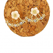 Cute Daisy Flower Crystal 925 Silver Needle Ear Stud Earrings For Women by Greengroup15