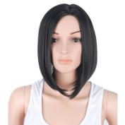 Netgo Black Bob Wig Short straight Heat Resistant Synthetic Black Hair Wig for Black Women