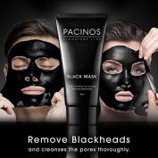 Pacinos Blackhead Remover Deep Cleansing Peel Off Black Mask Active Charcoal Tearing Charcoal Masque, 50ml