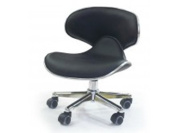 Black Low Pump Technician Stool for Salon, Spa, and Medical
