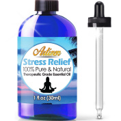 Artizen Stress Relief Blend Essential Oil (100% PURE & NATURAL - UNDILUTED) Therapeutic Grade - Huge 30ml Bottle - Perfect for Aromatherapy, Relaxation, Skin Therapy & More!