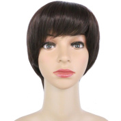 DODOING Synthetic Short Wig Bob Wig Lady Hair Bob Wigs Fashion Party Cosplay Heat Resistant Full Wig for Men Women Brown mix Dark Auburn