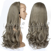 2017 New Fashion Hair Fall Long Wavy 3/4 Wig Hairpieces Synthetic Half Head Wig for Women