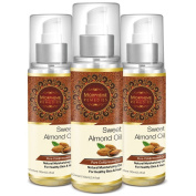 Morpheme Pure Coldpressed Sweet Almond Oil 100 ml - 3 Bottles
