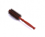 BFlowerYan 1Dozen Elegant Brushes Round Boar Brush With Wood Handle, Brown, 3.8cm