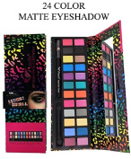 Amuse 24 Assorted Colour Matte Eyeshadow Palette w/Black Eyeliner