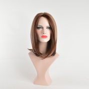 Black Rose Popular Straight Bob Wig Heat Resistant Synthetic Hair Wigs Middle Part Glueless Wig Multi-Colour 30cm - 36cm