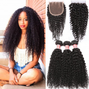 Pizazz Brazilian Curly Hair with Closure 7a Virgin Kinky Curly Hair Extensions Brazilian Jerry Curl Hair