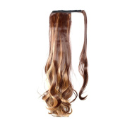 Moda Mode Wrap Around Ponytail Hair Pieces Curly Wave Clip In Synthetic Hair Extensions 60cm