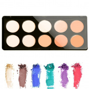 Cosmetics Cream Concealer Palette, KRABICE 10 Colour Makeup Dark Circle Concealer Cream Make Up Foundation Makeup Palette Set