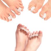 Sinsun Gel Toe Separators Set - Protectors Spacers Straighteners (w/ Toe Loop) - Pedicure Tools for Men & Women
