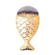 Mermaid Fish Makeup Brush Fishtail Bottom Brush Powder Blush Foundation Cosmetic Brushes Tool 1pcs