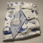 Sweet Dreams Baby Boy Blanket Blue Cars 80cm x 100cm