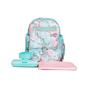Laura Ashley 4 in 1 Rose Floral Dome Backpack Nappy Bag Teal