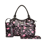 Laura Ashley 6 in 1 Floral Tote Nappy Bag Black