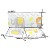 Cuddletime Globetrotter Crib Bumper, Grey