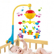 Real Musical Crib Mobile Bed Bell Baby Rattles Star Lighting Mobiles Cartoon Infant Pram Toys For 0-12 Months Newborn Kids