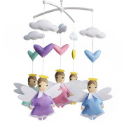 Baby Gift Creative Hanging Toys, Wind-up Musical Mobile, Colourful, [Angel]