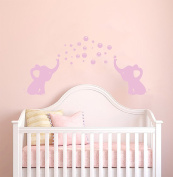 Elephants Bubbles Wall Decal - Prime Series -Baby Girl Wall Decal Nursery For Home Bedroom Children (AM)
